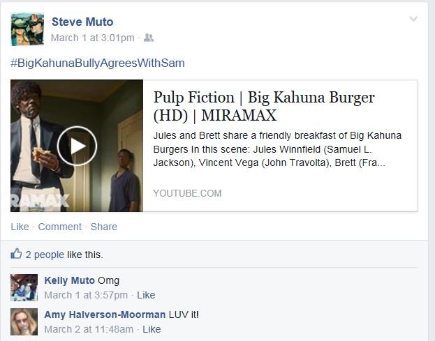 Steve Muto Big Kahuna Bully - Pulp Fiction Scene Reference